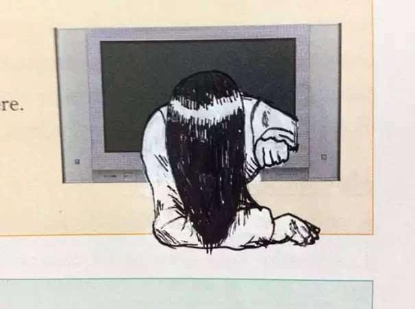 贞子从电视里爬出来找你啦!图片