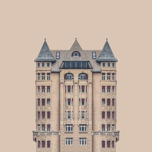 这些对称建筑,真不是画出来的