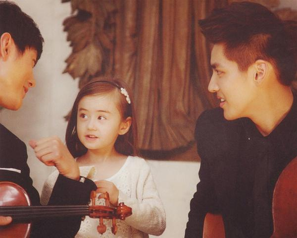 她第一次拍电影就演吴亦凡女儿 亲妹妹更是可爱