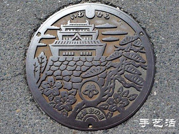 日本街头创意井盖diy设计图片