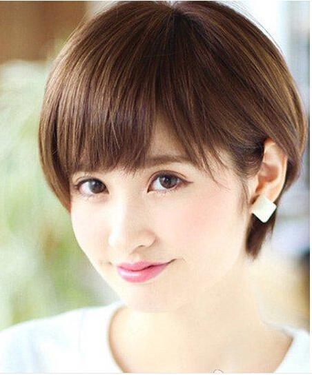 4款圆脸适合的短发发型推荐 ,圆上加圆其实更加活泼