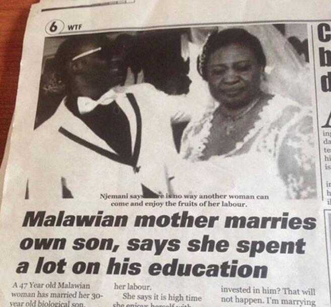非洲女子嫁给自己30岁的儿子?其实妈宝男都是这样养成的!